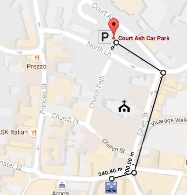 court-ash-car-park-map